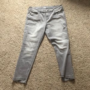 Gray old navy jeans.